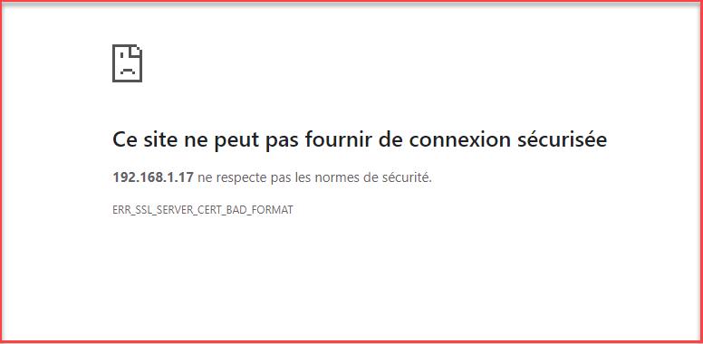 err_ssl_server_cert_bad_format google chrome