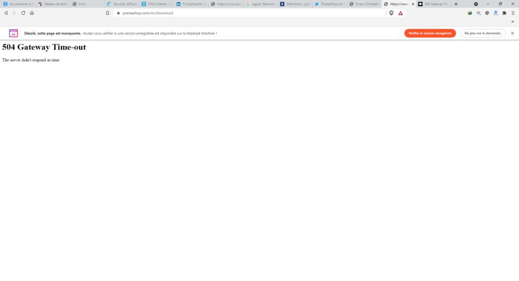 Dysfonctionnement site web prestashop 2021 09 02 05 32 39